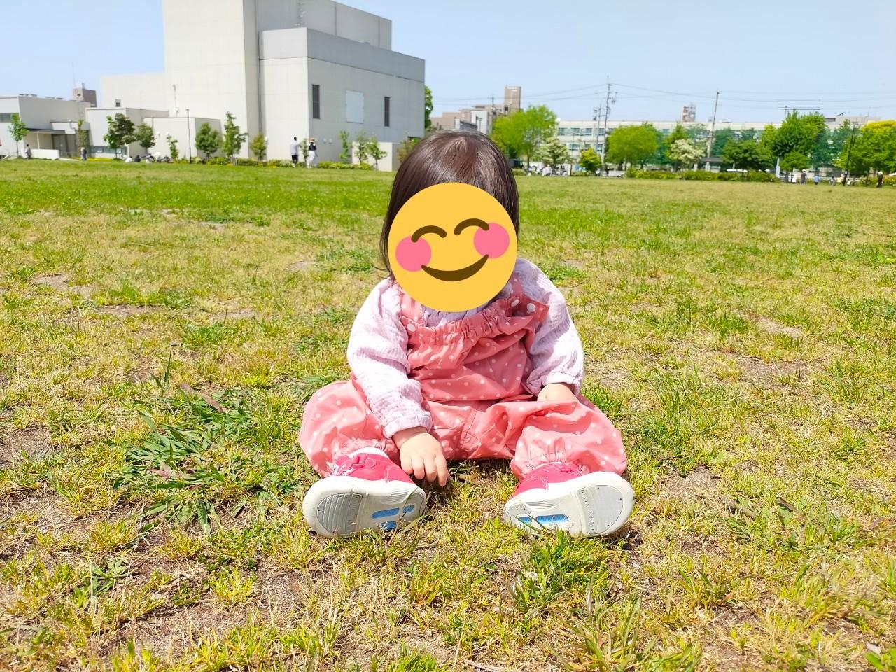 川名公園での娘