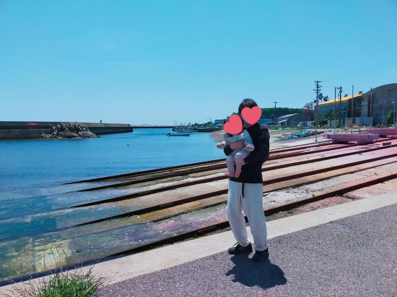 僕と娘と師崎の海